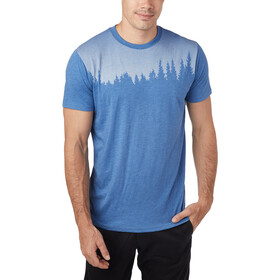 tentree Juniper SS Tee Men blue jay/blue heather